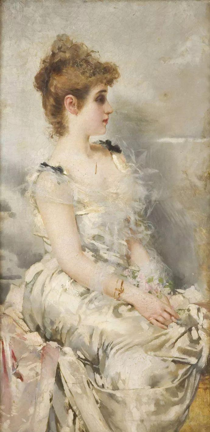 女性肖像油画 意大利Vittorio Matteo Corcos插图11
