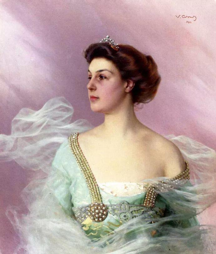 女性肖像油画 意大利Vittorio Matteo Corcos插图12