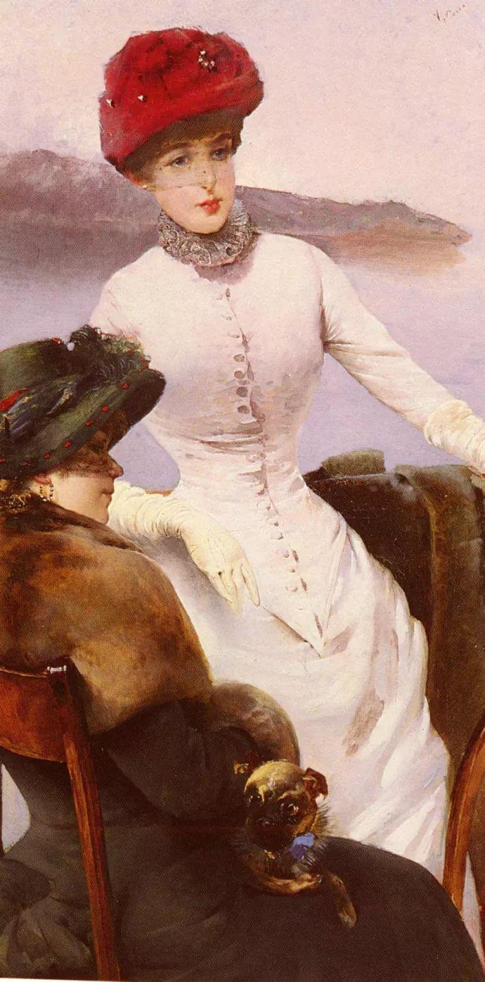 女性肖像油画 意大利Vittorio Matteo Corcos插图13