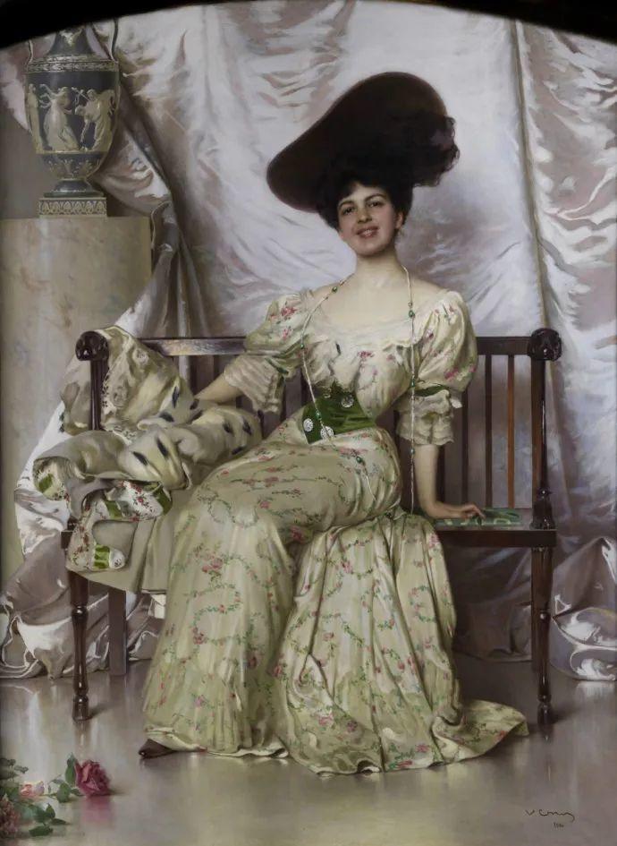 女性肖像油画 意大利Vittorio Matteo Corcos插图15