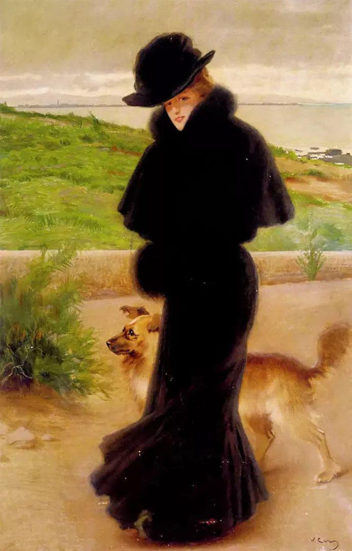 女性肖像油画 意大利Vittorio Matteo Corcos插图17