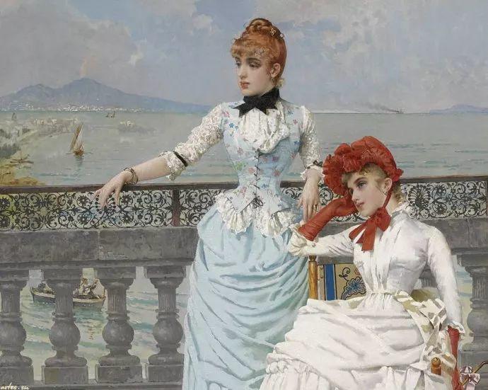女性肖像油画 意大利Vittorio Matteo Corcos插图18