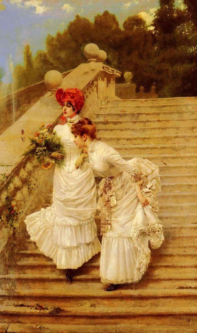 女性肖像油画 意大利Vittorio Matteo Corcos插图19