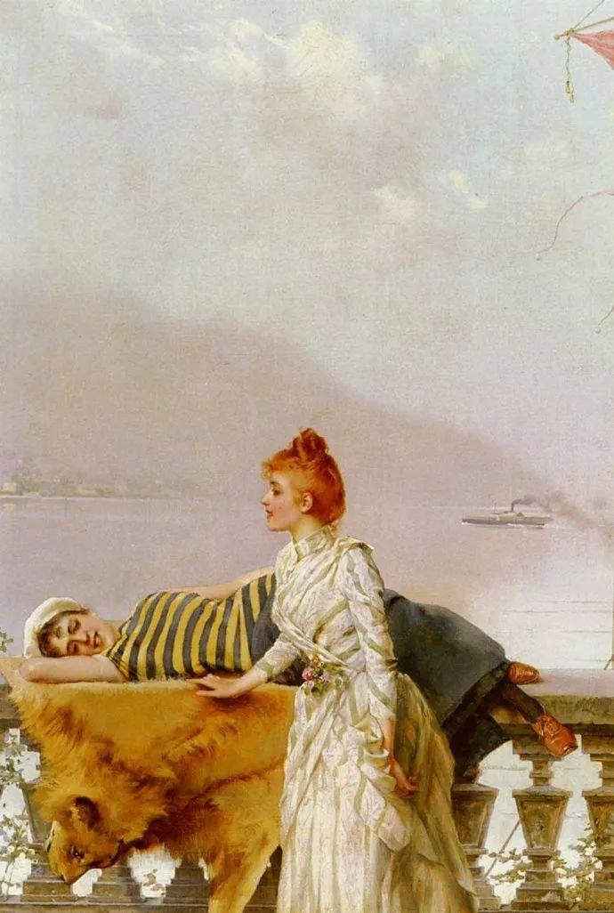 女性肖像油画 意大利Vittorio Matteo Corcos插图20