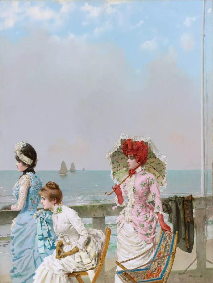 女性肖像油画 意大利Vittorio Matteo Corcos插图22