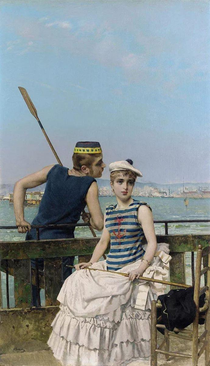 女性肖像油画 意大利Vittorio Matteo Corcos插图24
