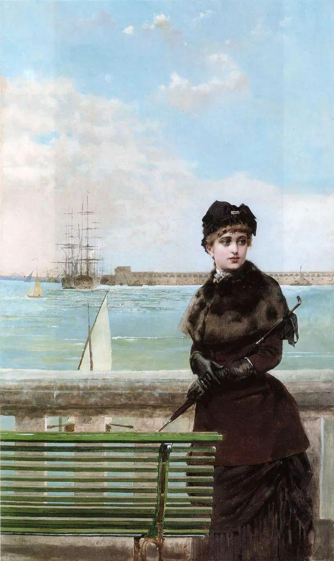 女性肖像油画 意大利Vittorio Matteo Corcos插图26