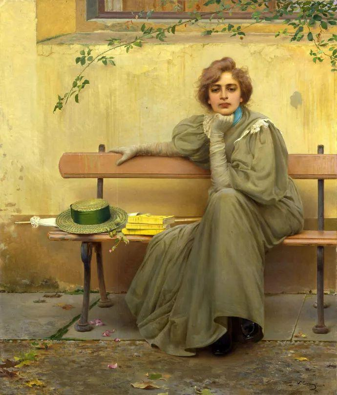 女性肖像油画 意大利Vittorio Matteo Corcos插图27