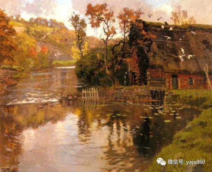 风景油画 挪威Fredrik Thaulow作品插图