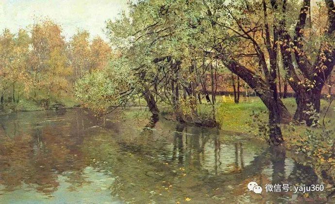 风景油画 挪威Fredrik Thaulow作品插图1