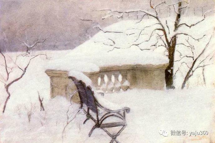 风景油画 挪威Fredrik Thaulow作品插图2