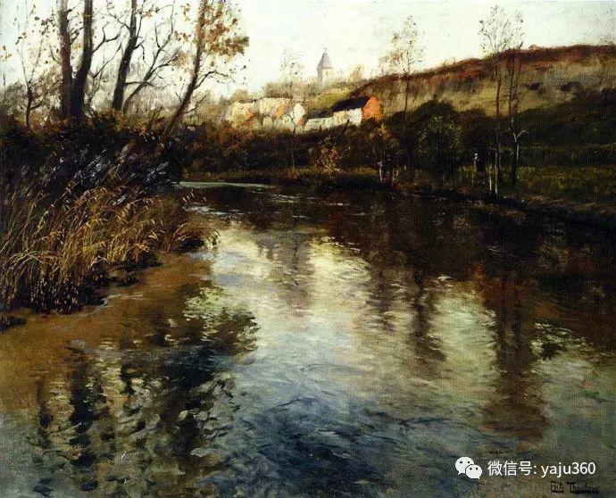 风景油画 挪威Fredrik Thaulow作品插图8