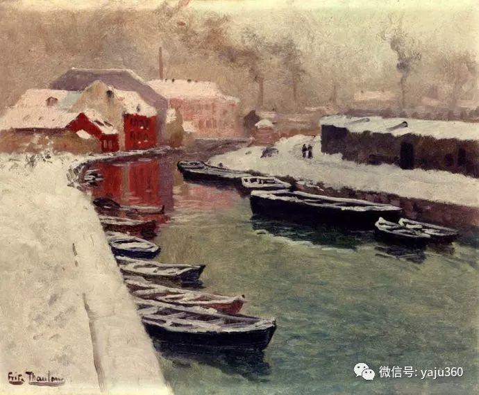 风景油画 挪威Fredrik Thaulow作品插图9