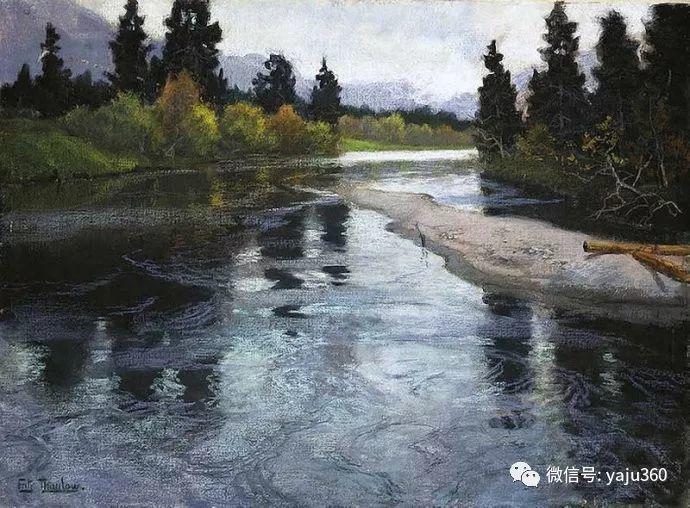 风景油画 挪威Fredrik Thaulow作品插图10