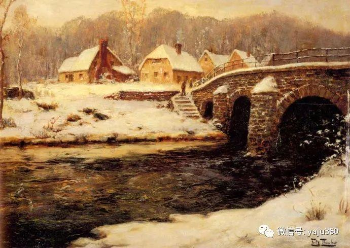 风景油画 挪威Fredrik Thaulow作品插图15