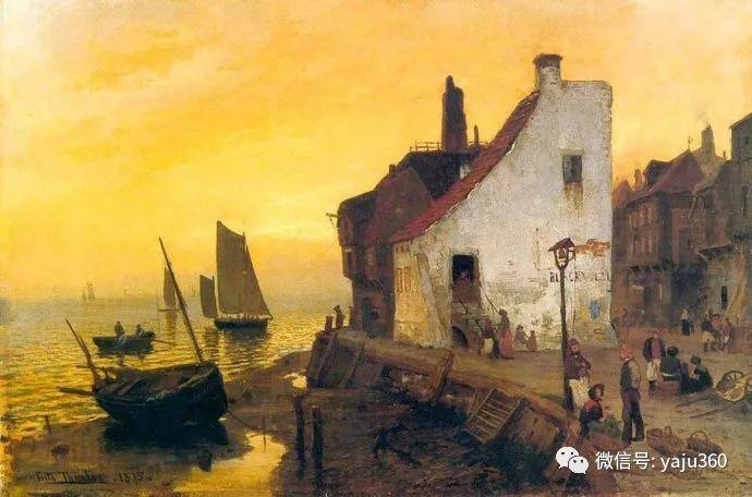 风景油画 挪威Fredrik Thaulow作品插图19