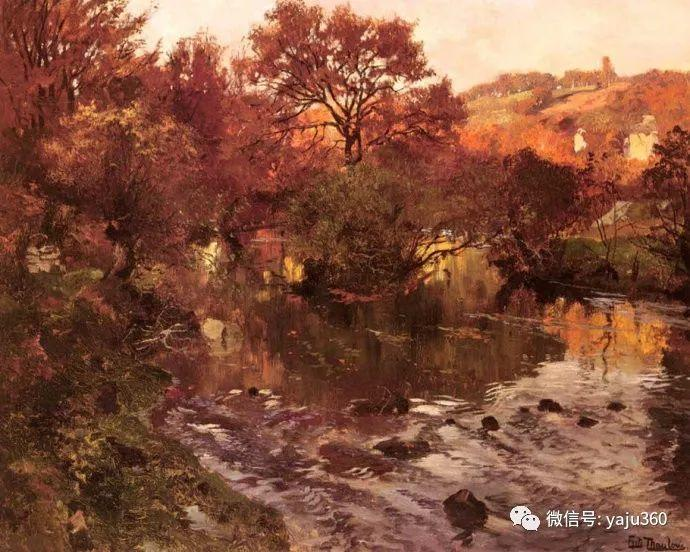 风景油画 挪威Fredrik Thaulow作品插图20