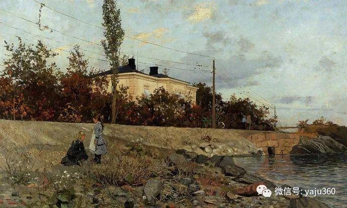 风景油画 挪威Fredrik Thaulow作品插图23