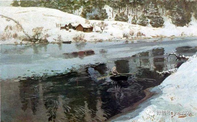风景油画 挪威Fredrik Thaulow作品插图24