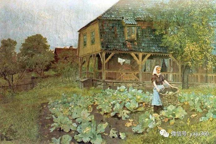 风景油画 挪威Fredrik Thaulow作品插图27