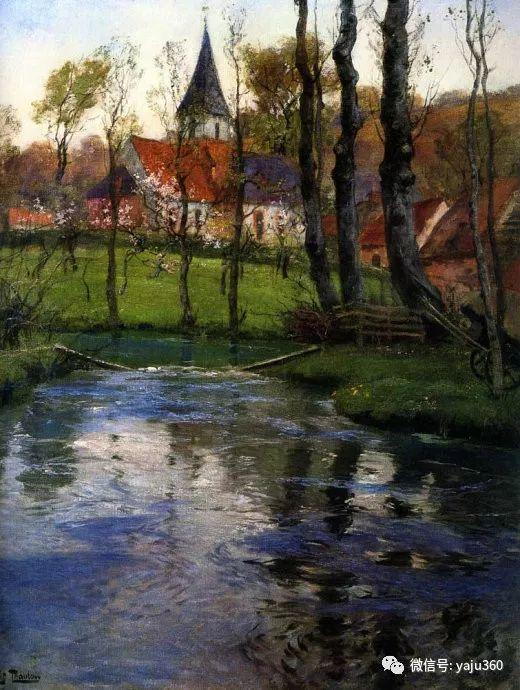 风景油画 挪威Fredrik Thaulow作品插图28