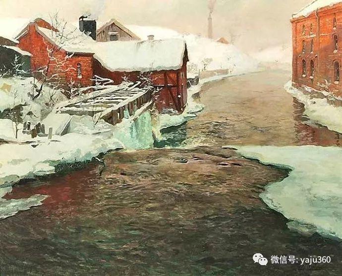 风景油画 挪威Fredrik Thaulow作品插图29