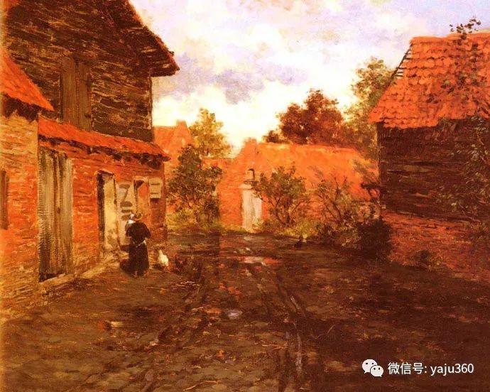风景油画 挪威Fredrik Thaulow作品插图30