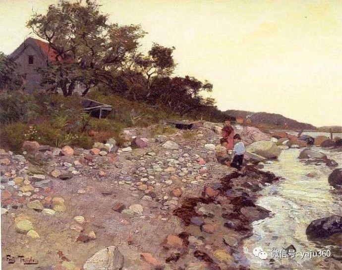 风景油画 挪威Fredrik Thaulow作品插图32