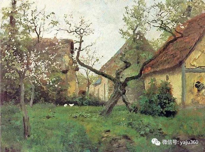 风景油画 挪威Fredrik Thaulow作品插图33