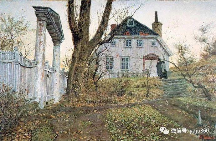 风景油画 挪威Fredrik Thaulow作品插图35