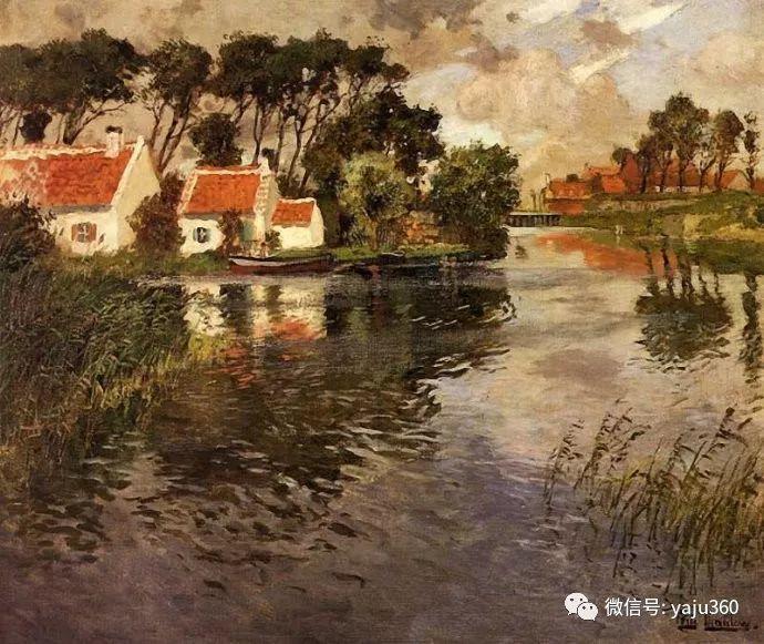 风景油画 挪威Fredrik Thaulow作品插图36