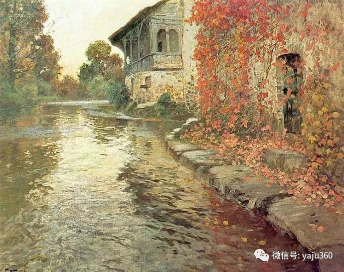 风景油画 挪威Fredrik Thaulow作品插图42