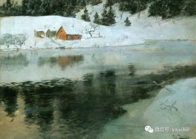 风景油画 挪威Fredrik Thaulow作品插图44