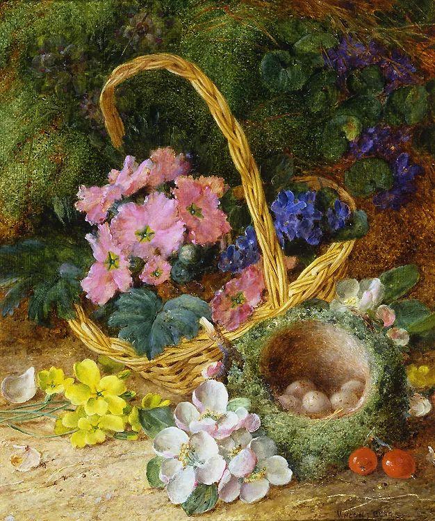 静物花卉油画欣赏 英国文森特·克莱尔插图1