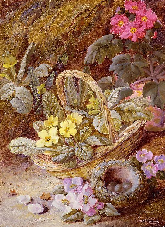 静物花卉油画欣赏 英国文森特·克莱尔插图3