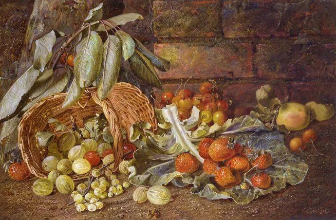 静物花卉油画欣赏 英国文森特·克莱尔插图5