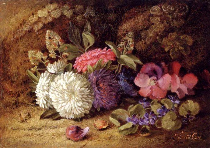静物花卉油画欣赏 英国文森特·克莱尔插图7