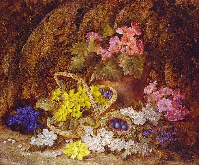 静物花卉油画欣赏 英国文森特·克莱尔插图13