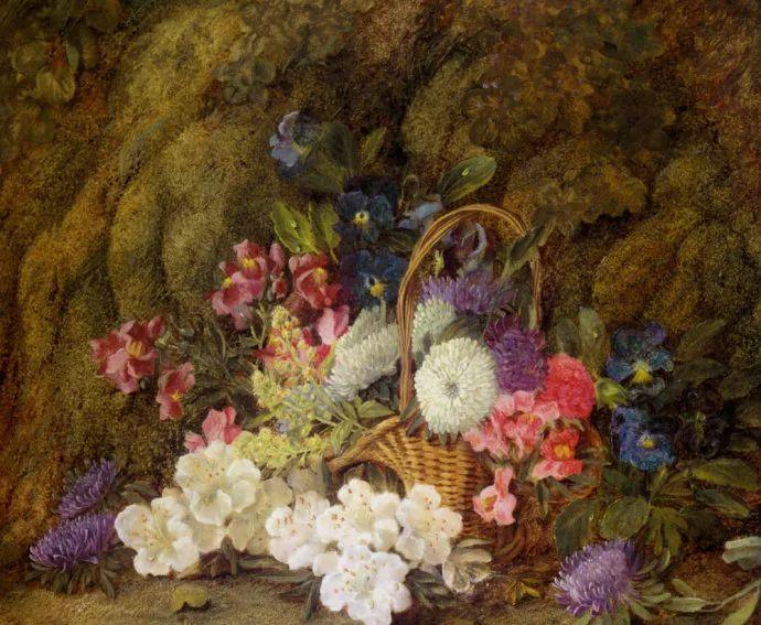 静物花卉油画欣赏 英国文森特·克莱尔插图15
