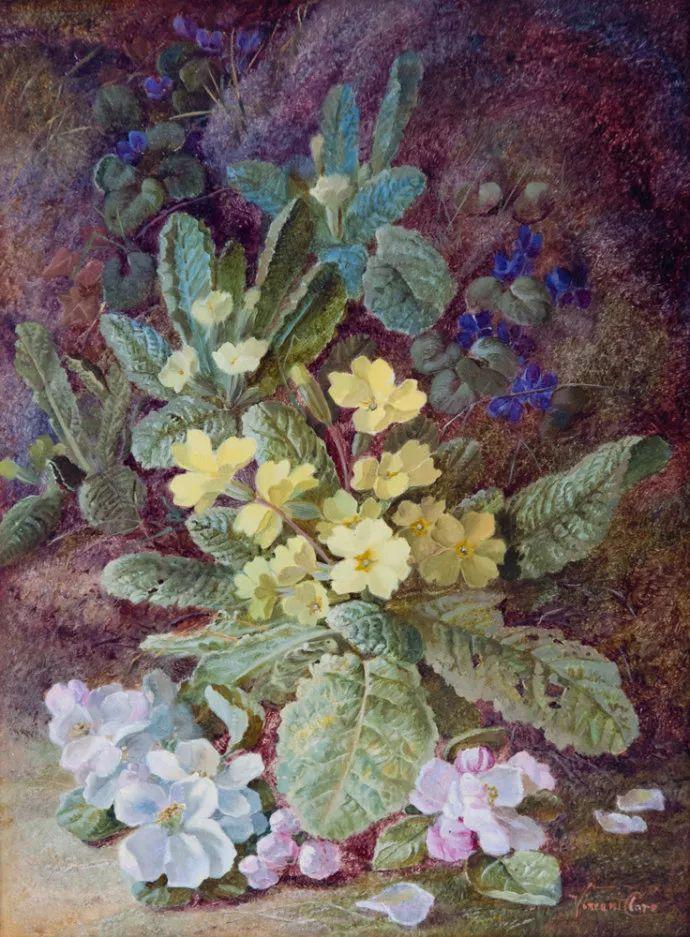 静物花卉油画欣赏 英国文森特·克莱尔插图17