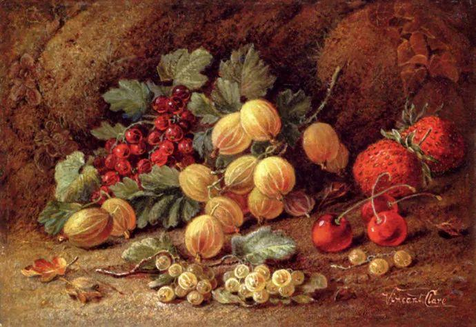 静物花卉油画欣赏 英国文森特·克莱尔插图19