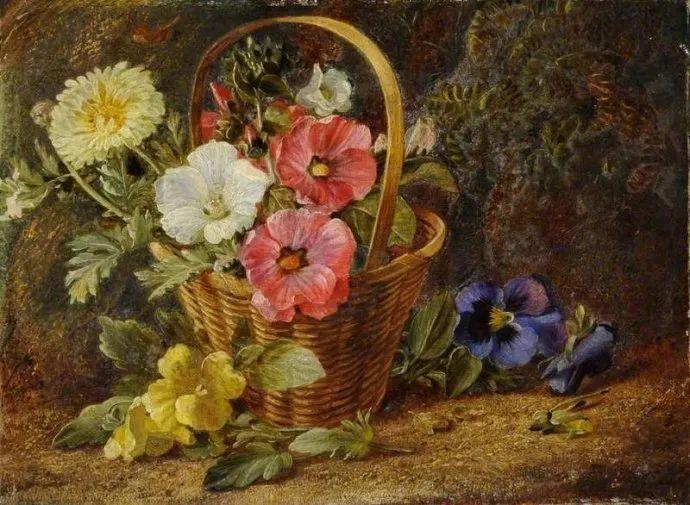 静物花卉油画欣赏 英国文森特·克莱尔插图23