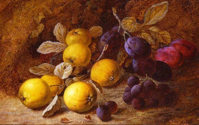 静物花卉油画欣赏 英国文森特·克莱尔插图25