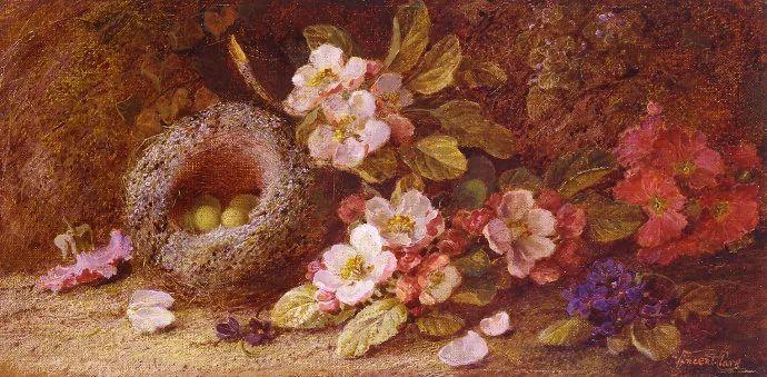 静物花卉油画欣赏 英国文森特·克莱尔插图35