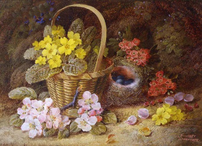 静物花卉油画欣赏 英国文森特·克莱尔插图43