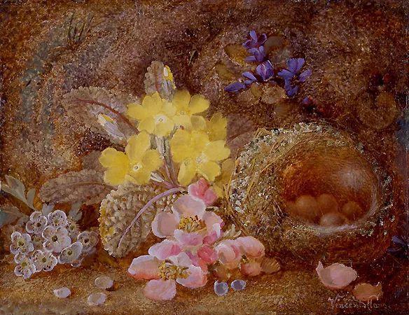 静物花卉油画欣赏 英国文森特·克莱尔插图49