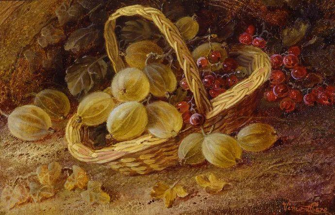 静物花卉油画欣赏 英国文森特·克莱尔插图51