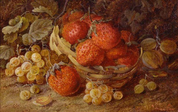静物花卉油画欣赏 英国文森特·克莱尔插图53