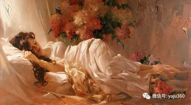 优美的女子油画欣赏 Richard S Johnson插图1