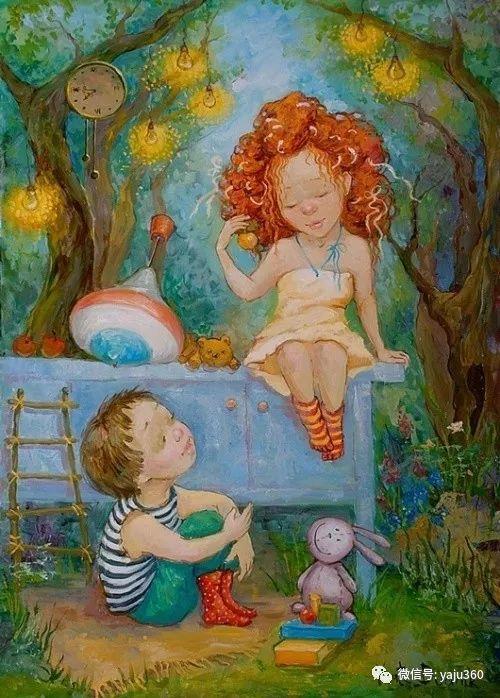 童趣 乌克兰Kate Dudnik绘画欣赏插图1